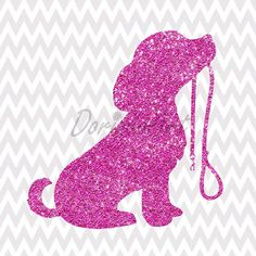 Bedroom wall decor featuring a pink, glittery puppy dog for your little animal lover. Who wouldn't love a pink glitter puppy poster?