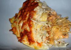 Noodles com frango gratinado - Receitas Já, rapidas, faceis e simples Culinária para todos!!!