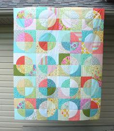 circles, quilting tutorials, quilt patterns, mom quilt, crazi mom