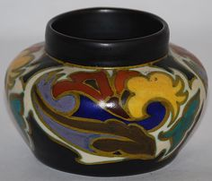 Gouda Pottery 1929 Grotius Vase (Artist Signed) from Just Art Pottery
