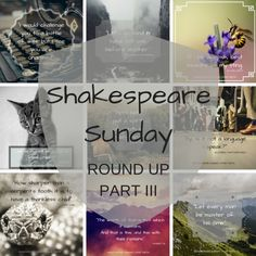 Shakespeare Sunday Round Up III read it now! #blog #blogger