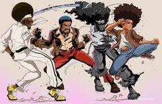 "paulwalcottart: "" Afro's assemble Art by Paulwalcott "" This team is too op"