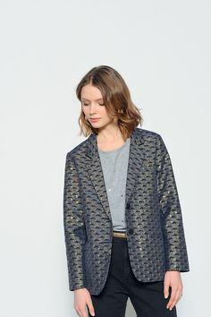 Jacquards créés par le studio de design textile Walkie Talkie pour la collection Des Petits Hauts @vieenplusjolie Hiver 2016-17