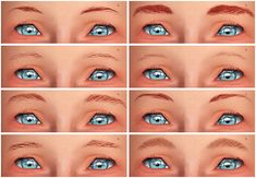 Set of 8 brows for toddler/child by chisami - Sims 3 Downloads CC Caboodle