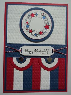 Card Corner by Candee: Happy 4th Card