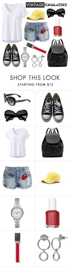 """""""Vintage Love: Retro Sunglasses"""" by the-geek-goddess ❤ liked on Polyvore featuring Ray-Ban, Converse, prAna, Witchery, Sans Souci, Michael Kors, Essie, Sisley, Belk Silverworks and vintage"""