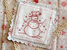 Hand Embroidery Pattern: Boughs of Holly