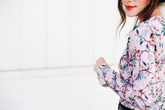 New Darlings Spring-like Florals, Bright Coral Lipstick