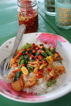 Gai Pad Prik Gaeng (Chicken Fried with Red Chili Paste) ไก่ผัดพริกแกง by Migration Mark, via Flickr