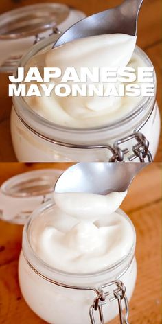 Easy recipe to make Japanese mayo at home. Authentic flavors with pantry staples. Prepare from scratch and use in your sushi, as a dip, in dressing & more! Japanese Mayonnaise Recipe, Homemade Mayonnaise, Homemade Sauce, Mayonaise Recipe, How To Make Mayonnaise, Indian Food Recipes, Asian Recipes, Japanese Food Recipes, Snacks