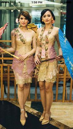 Kebaya Indonesian Kebaya, Kebaya Bali, Batik Kebaya, Batik Dress, Dress Brukat, Kebaya Dress, Dress Pesta, Modern Kebaya, Bali Girls