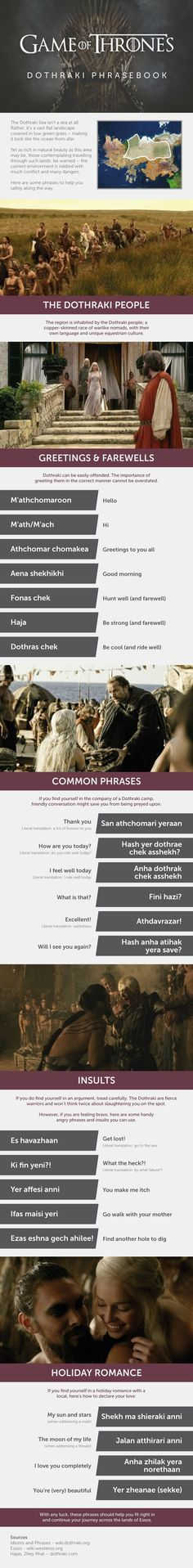 Fandom Friday: 5 Useful Game of Thrones Infographics -Dothraki