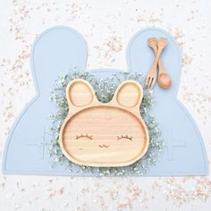 Bunny overload! Make mealtimes fun!Available at bluebrontide.com #ecobaby #organicbaby #toddlerfun
