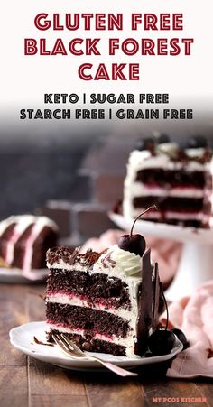 Make an easy authentic Black Forest Cake from scratch the easy way! This amazing birthday cake is simple moist and delicious! Filled with whipped cream raspberries cherries and keto chocolate cake it's the best low carb chocolate cake you'll ever make! Keto Friendly Desserts, Low Carb Desserts, Gluten Free Desserts, Low Carb Cakes, Dessert Sans Gluten, Bon Dessert, Keto Birthday Cake, Cool Birthday Cakes, Diabetic Birthday Cakes