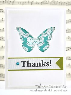 Beautiful cut-out card. Love the paper