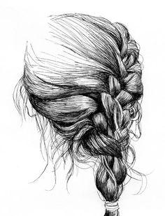 hair illustration -