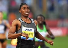 South Africa's Caster Semenya competes in the Women's 800m event at the Rome's Diamond League competition on June 2, 2016 at the…
