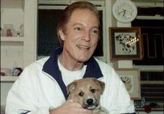 Richard Chamberlain and his dog