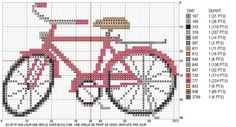 ponto cruz bicicleta grafico - Google Search