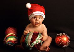 Baby's First Christmas photo card poses....
