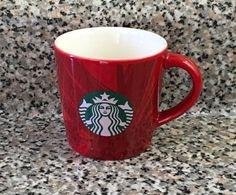 Starbucks Christmas 2014 Red Mini Mug 3oz Espresso Coffee Tea Cup 89ml Mermaid #Starbucks