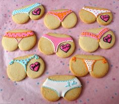 Thong Cookies funny cute sweets cookies decorate creative bake butt thong