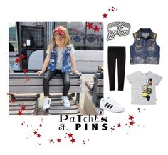 """""""PaTches & PINS"""" by poepoepurses ❤ liked on Polyvore featuring adidas"""