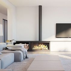 "What You Should Do About Fireplace with Wood Storage Beginning in the Next 9 Minutes The fireplace looks fantastic!"" Especially in the event the fireplace is in your room or you're the sole guests that day. A lovely fireplace in… Continue Reading → Home Fireplace, Modern Fireplace, Fireplace Design, Fireplace Ideas, Classic Fireplace, Gas Fireplaces, Living Room Tv, Home And Living, Living Spaces"