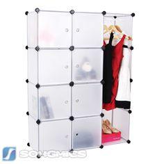 Cool Kleiderschrank Standregal Garderobeschrank Steckregalsystem mit Muster LPCBW