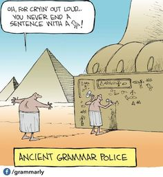 Ancient Grammar Police Cartoon - Share Its Funny Grammar Jokes, Grammar And Punctuation, Teaching Grammar, Chemistry Jokes, Science Jokes, Teaching Reading, Bad Grammar, Teaching Humor, Grammar Tips