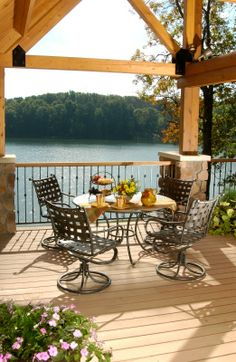 outdoor dining area with a view!