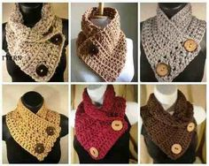 Cuellos Abrigaditos, Bufandas Adulto, Cuellos Tejidos A Crochet, Cuello Tejido, Tejido Bufandas, Tejido Crochet, Ganxet Crochet, Bufanda Crochet,