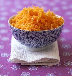 Salade de carottes râpées à l'orange, curcuma et cannelle - Recettes de cuisine Ôdélices