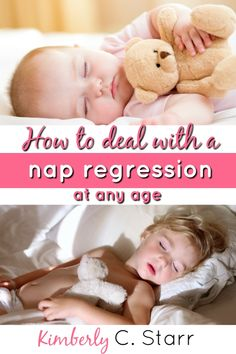 Nap regressions are tough because they mess with your daily schedule, your kids' sleep, and everyone's mood. Here are some ideas and tips to help you and your child (no matter the age) stick to that nap schedule so that everyone gets the sleep they need - Toddler Sleep, Kids Sleep, Baby Sleep, 9 Month Sleep Regression, Kids And Parenting, Parenting Hacks, Kids Plates, Baby Schedule, Tips & Tricks