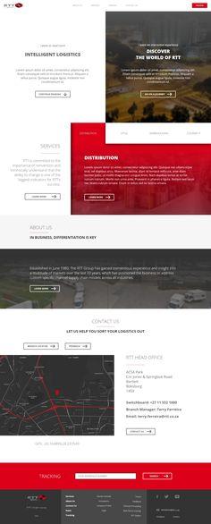 RTT Website redesign concept
