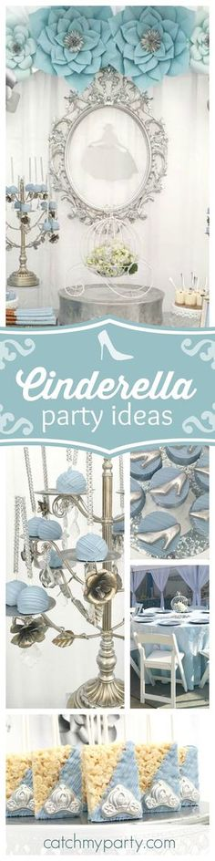 As you can tell Dreams really do come true at this gorgeous Cinderella themed Quinceañera! The dessert table is so pretty!! See more party ideas and share yours at CatchMyParty.com
