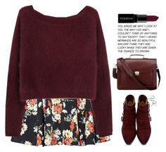 """Don't Look Down"" by youryulianna ❤ liked on Polyvore featuring Steven Alan, Toga, Smashbox, black, red and Flowers"