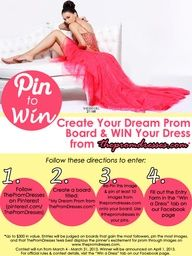 WIN your Prom Dress from ThePromDresses.com in our Pin to Win Contest! Details here: a.pgtb.me/68CF2v