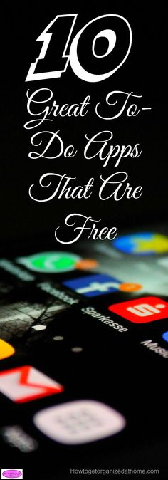 These 10 great to-do apps that are free to use and download are great, it depends on what you are looking for in a to-do app!