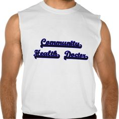 Community Health Doctor Classic Job Design Sleeveless Tee Tank Tops