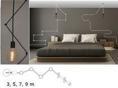 LAMPA SUFITOWA  **SNAKE/WĄŻ BIS 3M,  WISZĄCA**. ZWIS POJEDYŃCZY Z PRZEWODEM W OPLOCIE. Nasza oferta to lampa WISZĄCA  WĄŻ, **montowana do ściany lub sufitu uchwytami sufitowymi**.   Dzięki niej... Ceiling Lights, Etsy, Lighting, Bed, Furniture, Home Decor, Decoration Home, Stream Bed, Room Decor