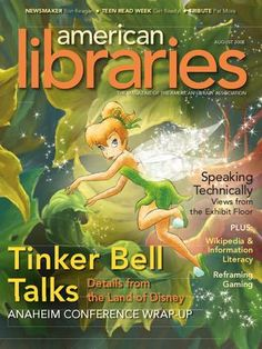 "Tinker Bell on the cover of ""American Libraries"" magazine (Aug. 2008)"