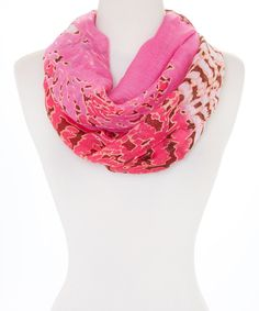 Look what I found on #zulily! Pink Watercolor Infinity Scarf by  #zulilyfinds