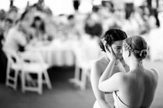 Two women dancing after their legal marriage (action)