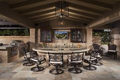 AMS Landscape Design Studio, Inc Bartholomew Residence Cabana, cook center bar