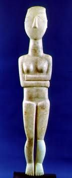 Cycladic sculpture from Greece ca 2000 BC