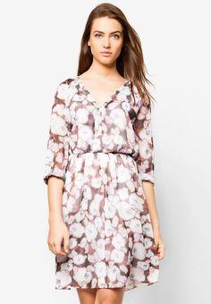 MANGO Floral Chiffon Dress 花卉雪紡連身裙