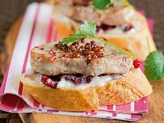 Silvester-Rezept für Filet-Cranberry-Canapés