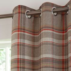 Rust Hoxton Lined Eyelet Curtains