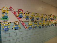 Kids created their own minions as a beginning of school activity.